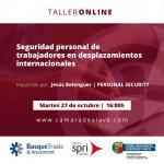 TALLER DE EXPERIENCIA ONLINE: Seguridad personal de los trabajadores/as en desplazamientos internacionales
