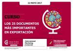 Los 25 documentos más importantes en la exportación
