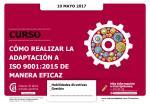 Cómo realizar la adaptación a ISO 9001:2015 de manera eficaz