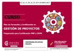 Plan de Formación y Certificación en Gestión de Proyectos