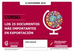 Los 25 documentos más importantes en exportación