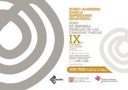 El Foro de Empresa Familiar de las Cámaras Vascas celebra este viernes 4 de noviembre su IX foro anual en el que abordará las novedades del nuevo derecho civil vasco