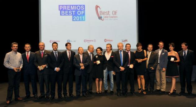 El Centro Temático del Vino Villa Lucía, Bodegas Valdelana y Hospedería Los Parajes, Premios Best Of de Turismo Vitivinícola 2011
