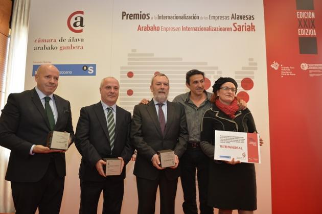 RPK, ARAEX Y AJL Ophtalmic, Premios a la Internacionalización de las Empresas Alavesas
