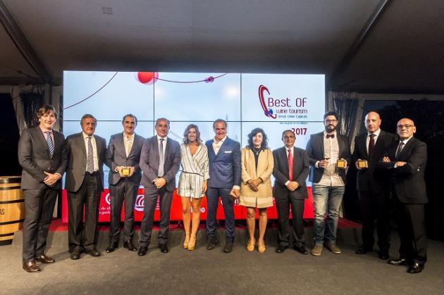 Bodegas Ramón Bilbao, Bodegas y Viñedos de Páganos y Bodegas Valdelana, Premios Best Of de Turismo Vitivinícola 2017