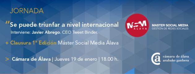La Cámara de Álava celebra la clausura de la 1ª edición del Master Social Media con la presencia del fundador de Tweet Binder, Javier Abrego