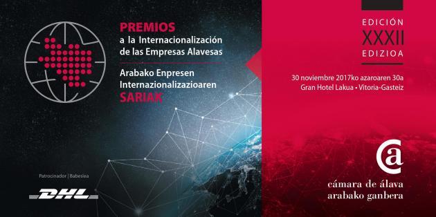 La Cámara de Álava entrega los XXXII Premios a la Internacionalización de las empresas alavesas