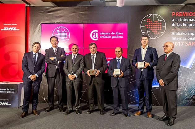 La Cámara de Álava entrega a Hutchinson, Muriel Wines y ATUSA los Premios a la Internacionalización 2017