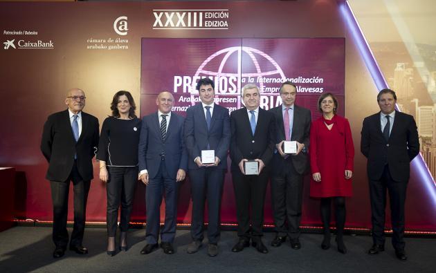 Okendo Txakolina, Zayer y Vidrala reciben los Premios a la Internacionalización 2018