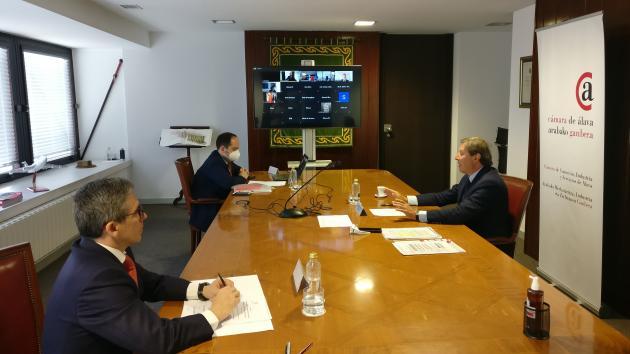 Encuentro virtual de la Cámara de Álava con una veintena de empresas e inversores de China