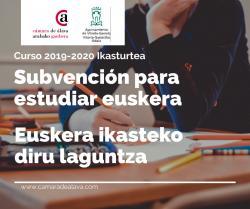 Beca para estudiar euskera